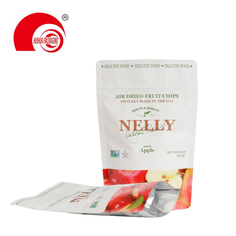 product-Huihua-Aluminum Foil Matt Finish Packing Doypack Air Dried Apple Fruit Chips Packaging Bag-i