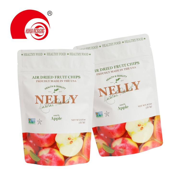 Aluminum Foil Matt Finish Packing Doypack Air Dried Apple Fruit Chips Packaging Bag