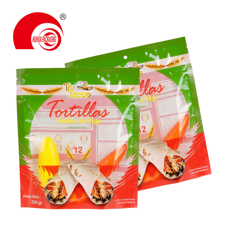 Clear Plastic Packaging Bag PE Wheat Flour Packaging Pouch with Resealable Zipper