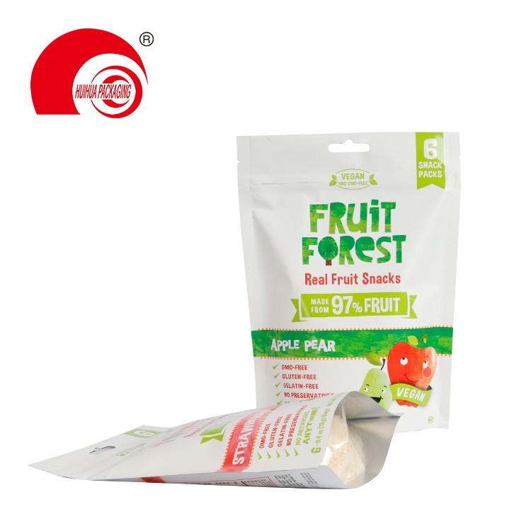 product-Huihua-Fruit Snack Foil Bag Strawberry Apple Pear Packing Pouch with Euro Hole Resealable Zi