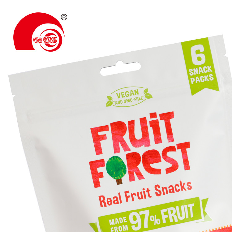 product-Fruit Snack Foil Bag Strawberry Apple Pear Packing Pouch with Euro Hole Resealable Zipper-Hu-1