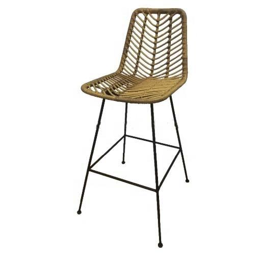 High bar outdoor furniture , seat patio balcony table rattan chair