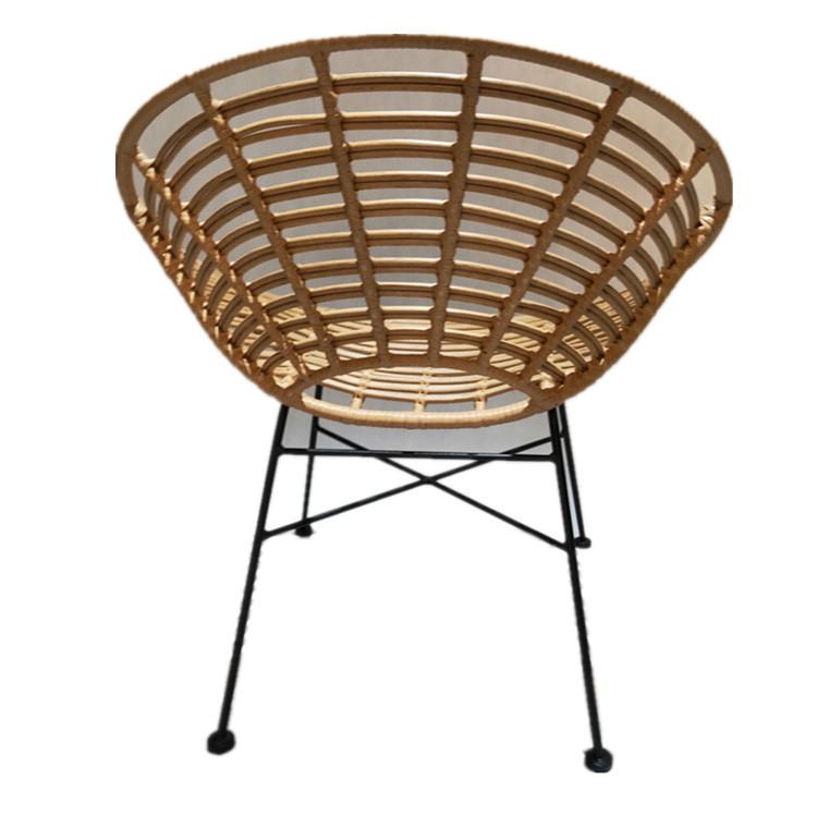 Rattan outdoor egg wicker reclining chair