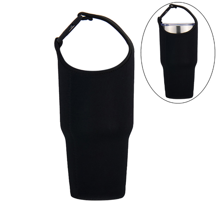 Custom Cup Bag Sport Water Bottle Cover Carrying Pouch Bag Buckle Bottle Handle Carrier Heat Insulation Water Mug Bag