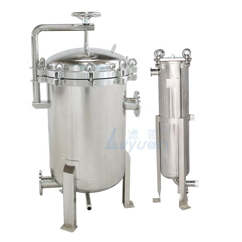 China Manufacture Custom Single Multi rounds SS 304 316L Stainless Steel Bag Filter Housing for Water Treatment