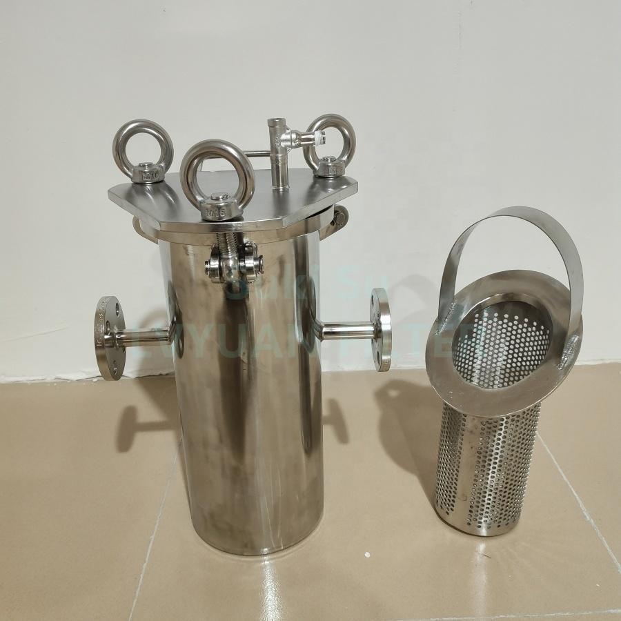 Custom Large flow SUS 304 316L Stainless steel inline filter strainer basket for oil/juice/beer/wine/milk mesh filters