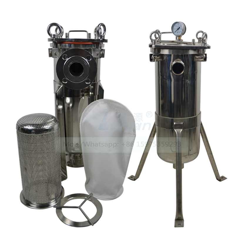 High pressure stainless steel plate type 5 microns PE bag single 316 filter housing for vegetable/coconut oil purification