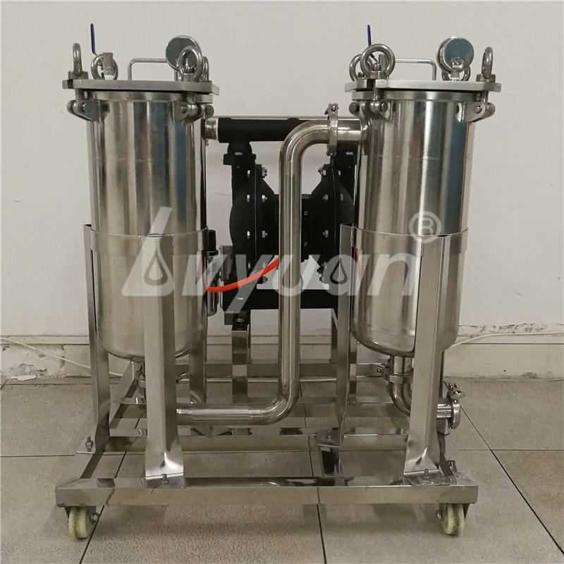 Guangzhou Manufacturer Industrial Stainless Steel single Bag filter housing with 1 5 10 25 50 75 100 150 200 micron