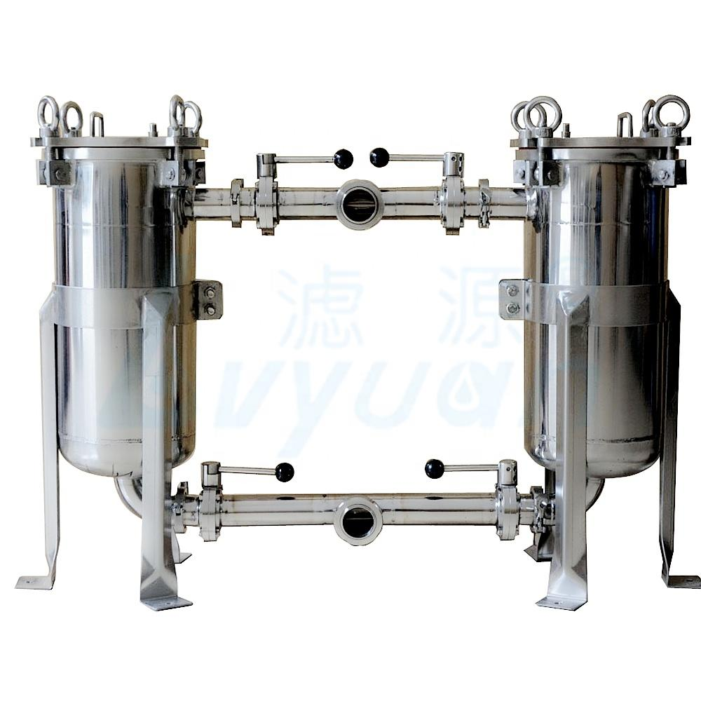 Removable water bag filter machine for pre water filtration