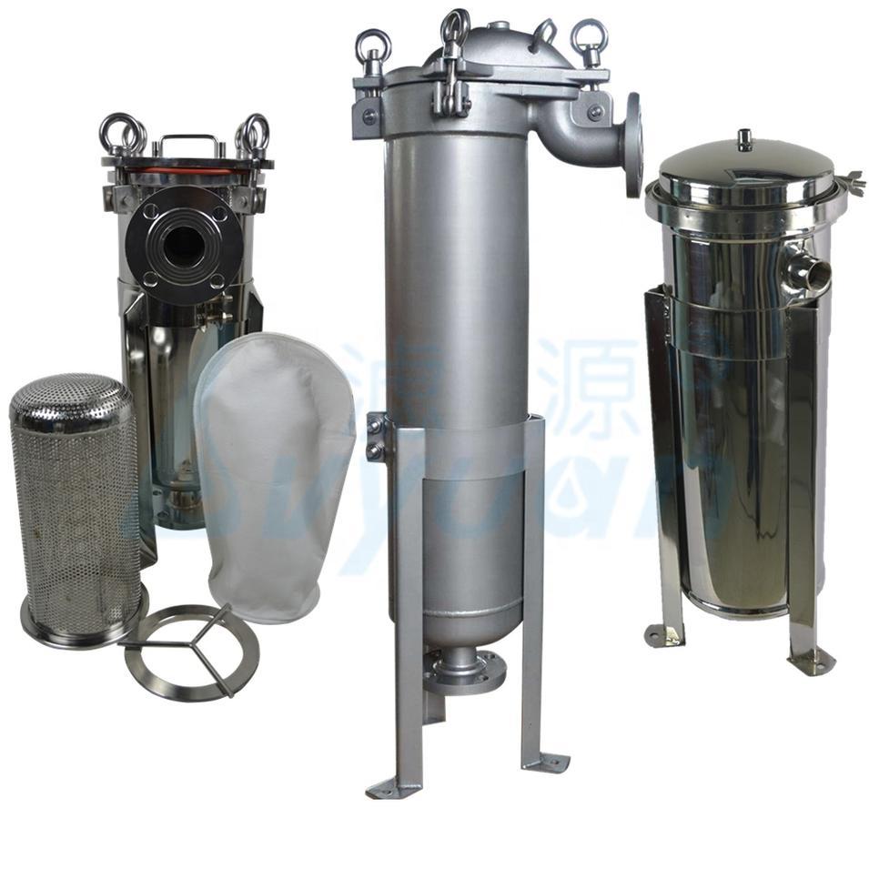 ss 304 316 single filter bag stainless steel filter strainer bag filter housing for industrial liquid filtration