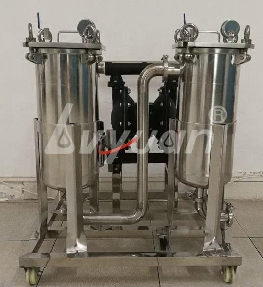 SS 304/316L Stainless Steel Dual Duplex Bag Water Filter for liquid/juice/beer/wine/milk purification system