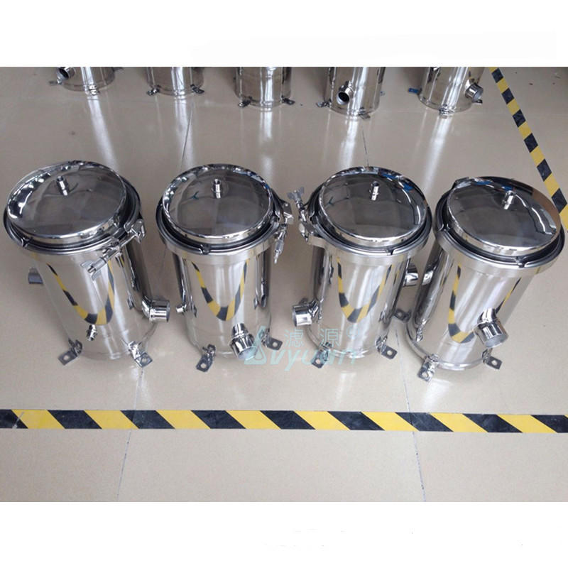 Single liquid filtration SS304 316L stainless steel bag cartridge filter housing with SS mesh bag filter 10 20 30 40 microns