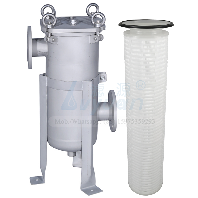 Pleated PP membrane 20 microns bag cartridge filter 304 316L ss bag filter housing for industrial liquid filtration system