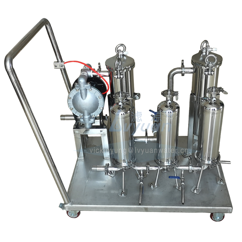 Guangzhou supplier big flow rate SS304 316L stainless steel pump filter system oil filter machine for fuel/diesel system