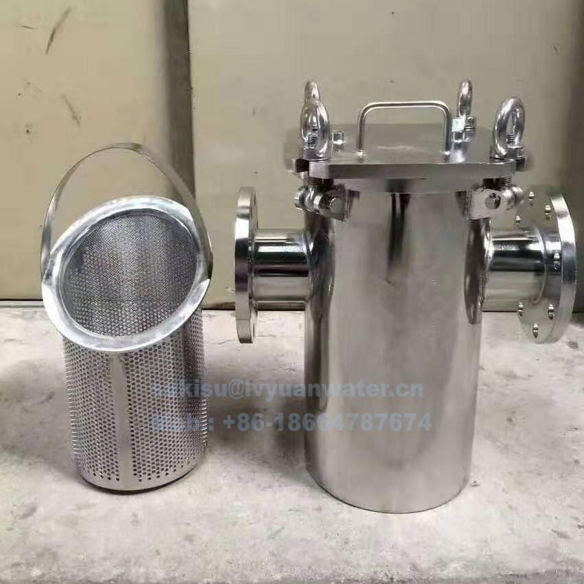 SS 304 316L Stainless Steel Basket filter for Strainer type water liquid filter DN15 20 25 32 40 50 65 80 100 125 150