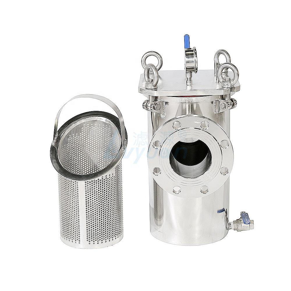 Basket strainer housing bag filter 304 316 stainless steel material for optional