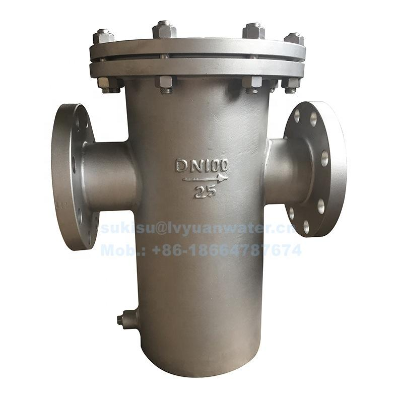 Industrial Micron Mesh SS Stainless Steel Basket type Strainer Filter for Liquid Oil Water Micro Filter Filtration