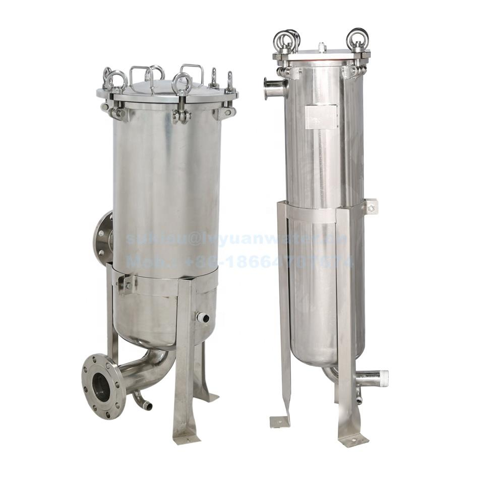 High Flow Food Grade SUS304/316L Stainless Steel filter bag housing for water liquid/juice/beer/wine/milk purifying