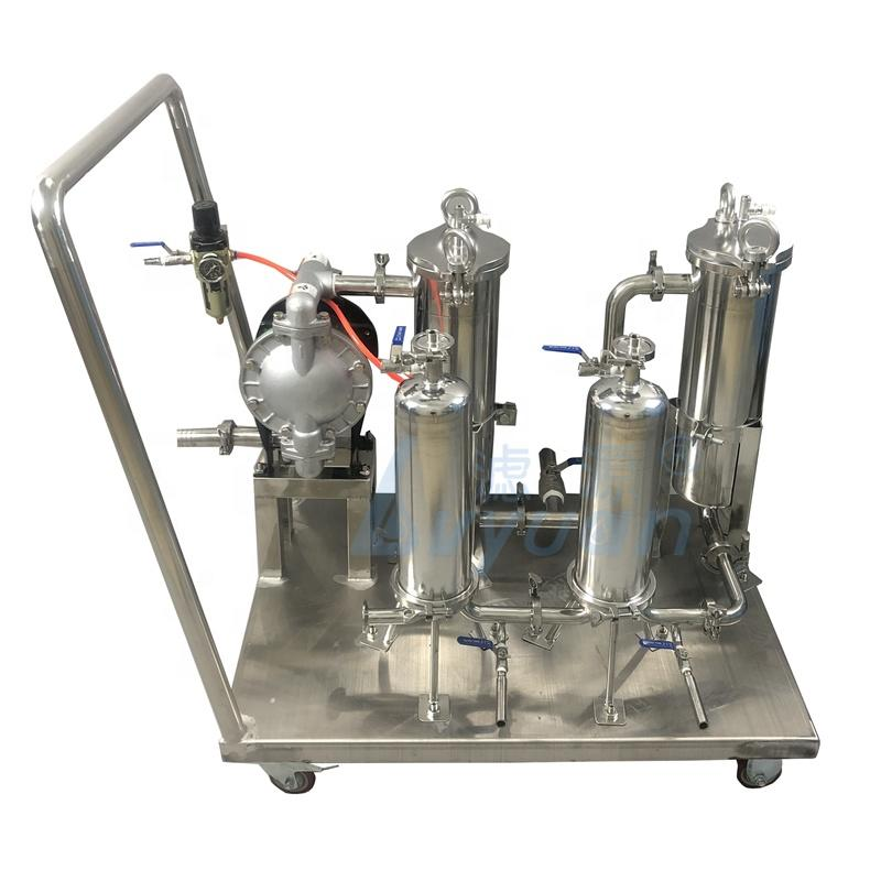 Custom Beverage filtration Stainless steel Multi bag Cartridge filtro wine and beer filtering equipment filter machine for wine