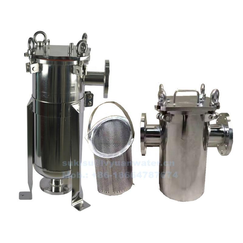 Sanitary Stainless Steel Housing Basket Strainer Bag Filter