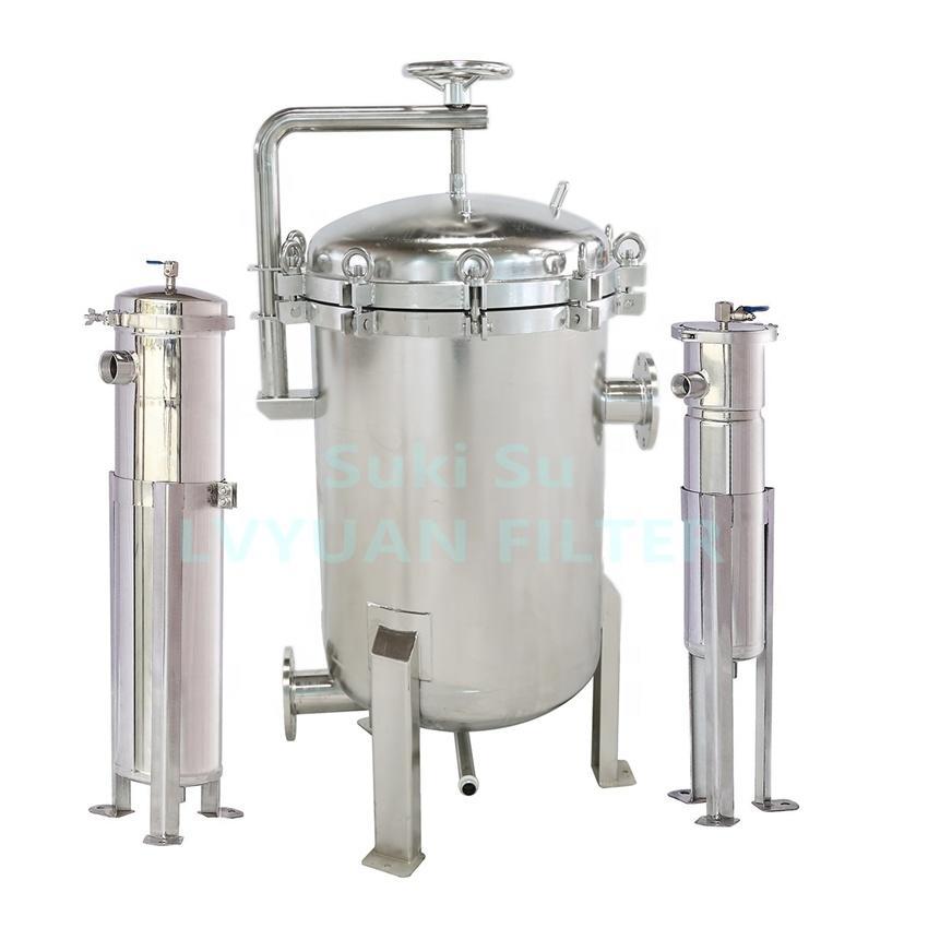 Industrial Water Liquid Filter Filtration Vessel Holder Stainless Steel bag filter housing for Juice beer wine milk oil vessels