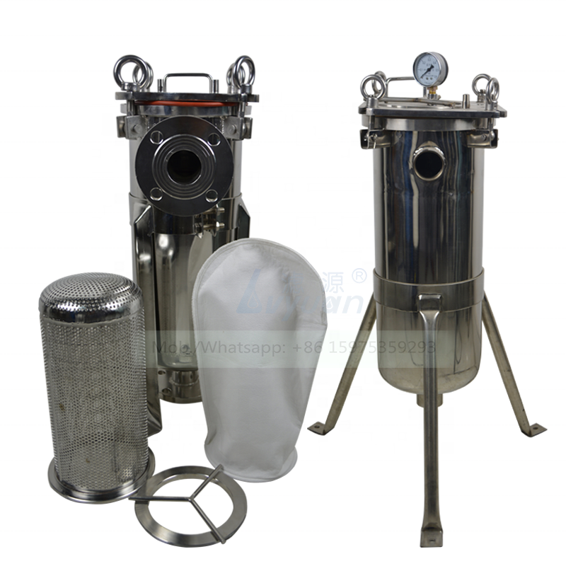 Guangdong guangzhou manufacturer SUS304 316L #1 #1 #3 #4 water treatment bag filter housing with single bag filter 10 microns