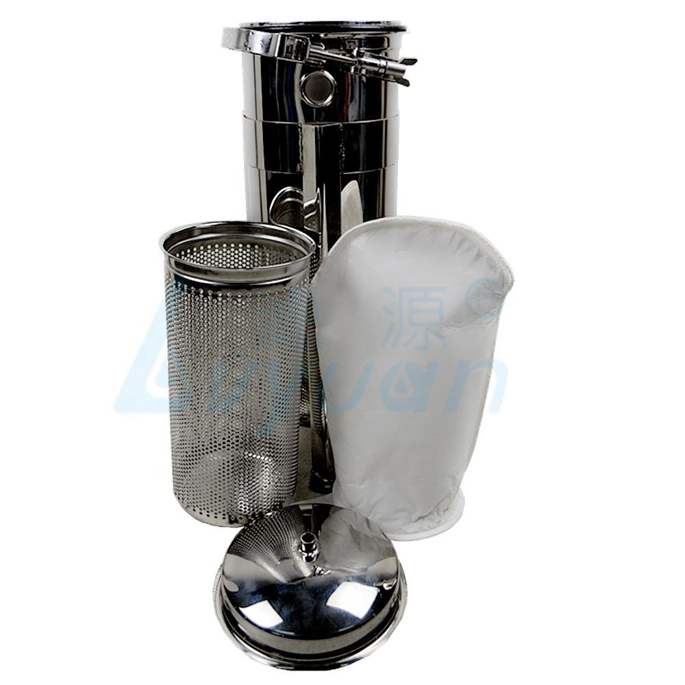 Industrial bag filters/sack filters with filters basket for water purification