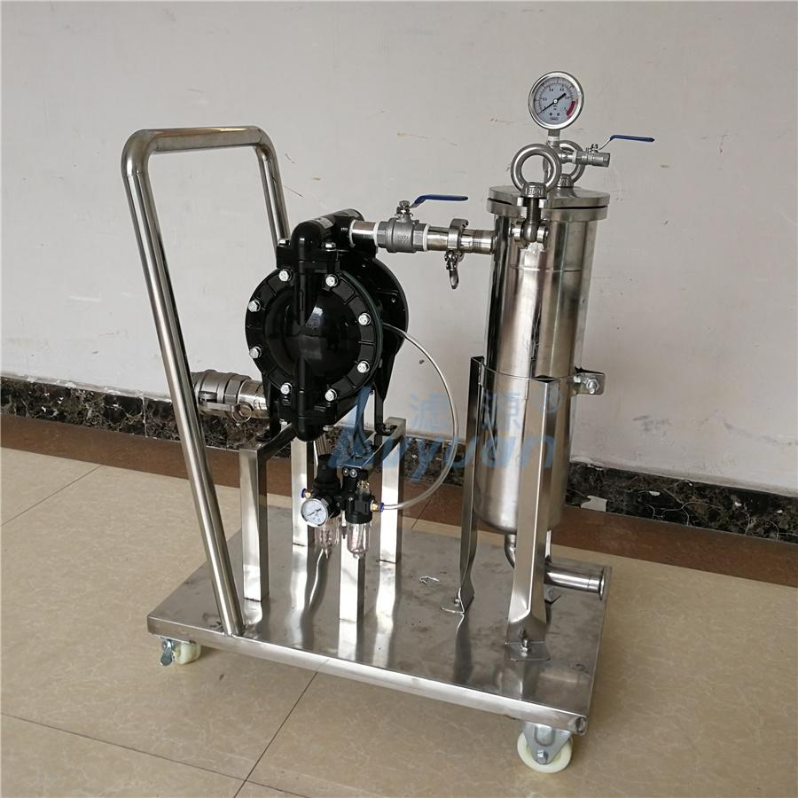 25/10/5/1 Micron 1/2/3 Stages Stainless Steel Tank Bag Filter Equipment with Booster Pump