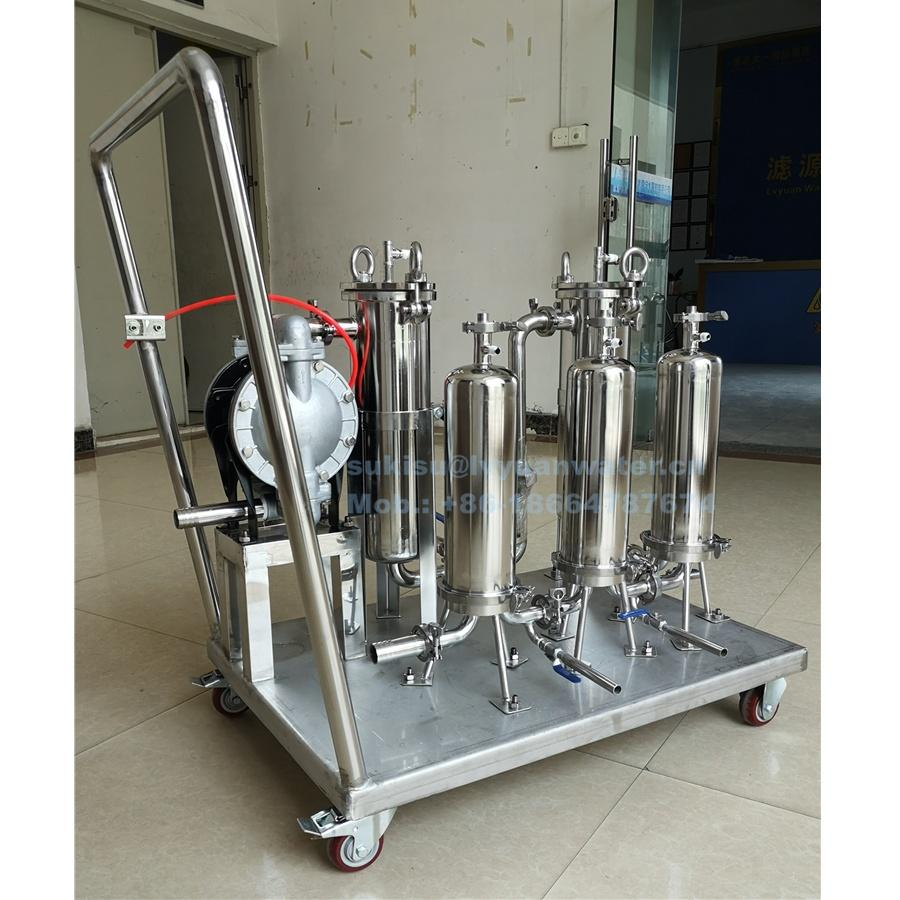 Customization industrial filtration price Stainless Steel SS bag filter housing factory with pump system