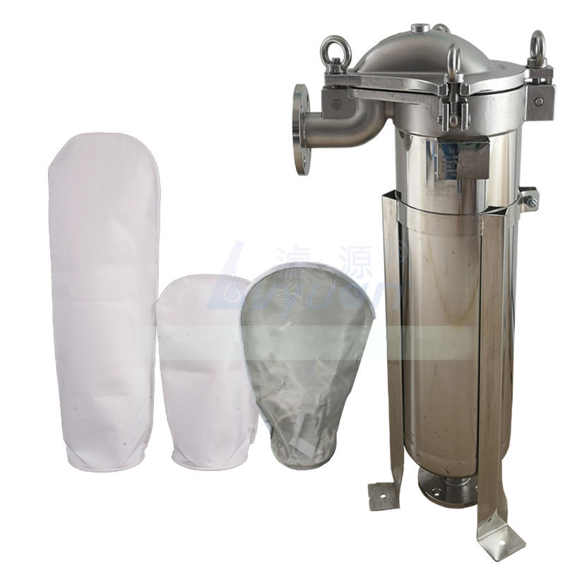 Industrial oil & liquid filtration 180x320 specification single PP bag filter SS 304 316L bag filter housing for water treatment