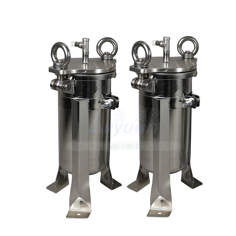 Customized 1 microns PP PE bag filter 1~10 tons/hour small stainless bag filter housing with removable standing SS legs