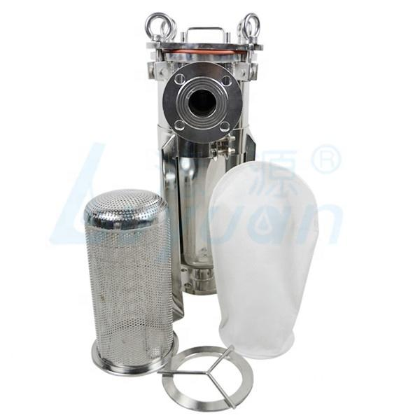 304 Stainless Steel Flange top cover Bag Filter Housing with #1 #2 single & multi Size filter bag for oil filtration