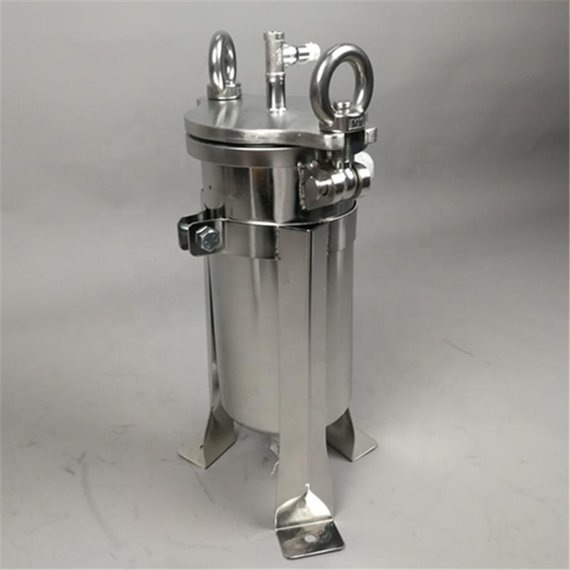 Small Stainless Steel Bag filter housing for river rain water sand removal