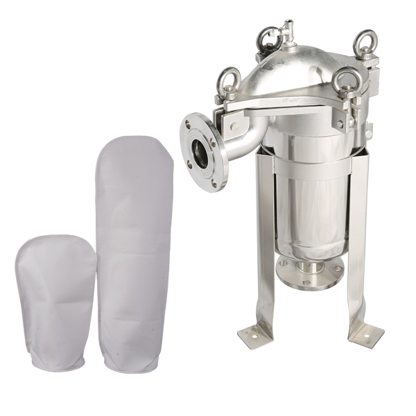 Top entry quick open flanged 2 inchPP PE single bag water filter stainless steel ss 316 ss304 bag filter housing