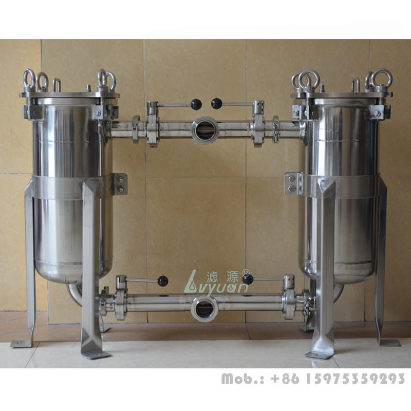 Industrial oil filtration BFH-01 316L stainless steel water bag filter housing with 5 10 50 microns SS wire mesh bag filter