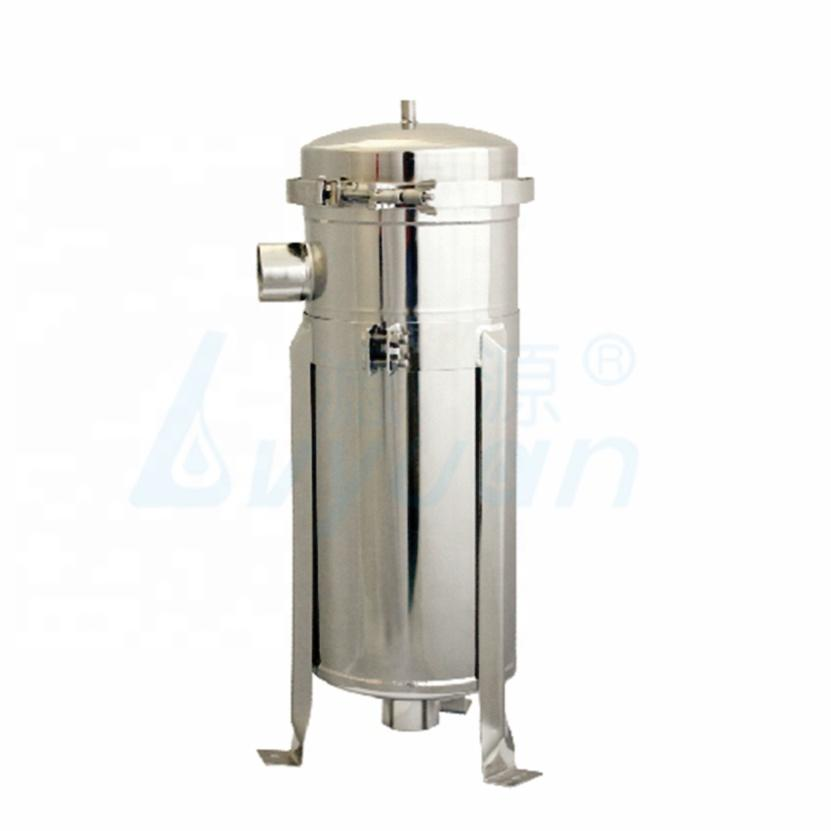 ss304 Bag Filter Housing 100 Psi with 1 micron water single-bag filter Stainless Steel housing for water treatment