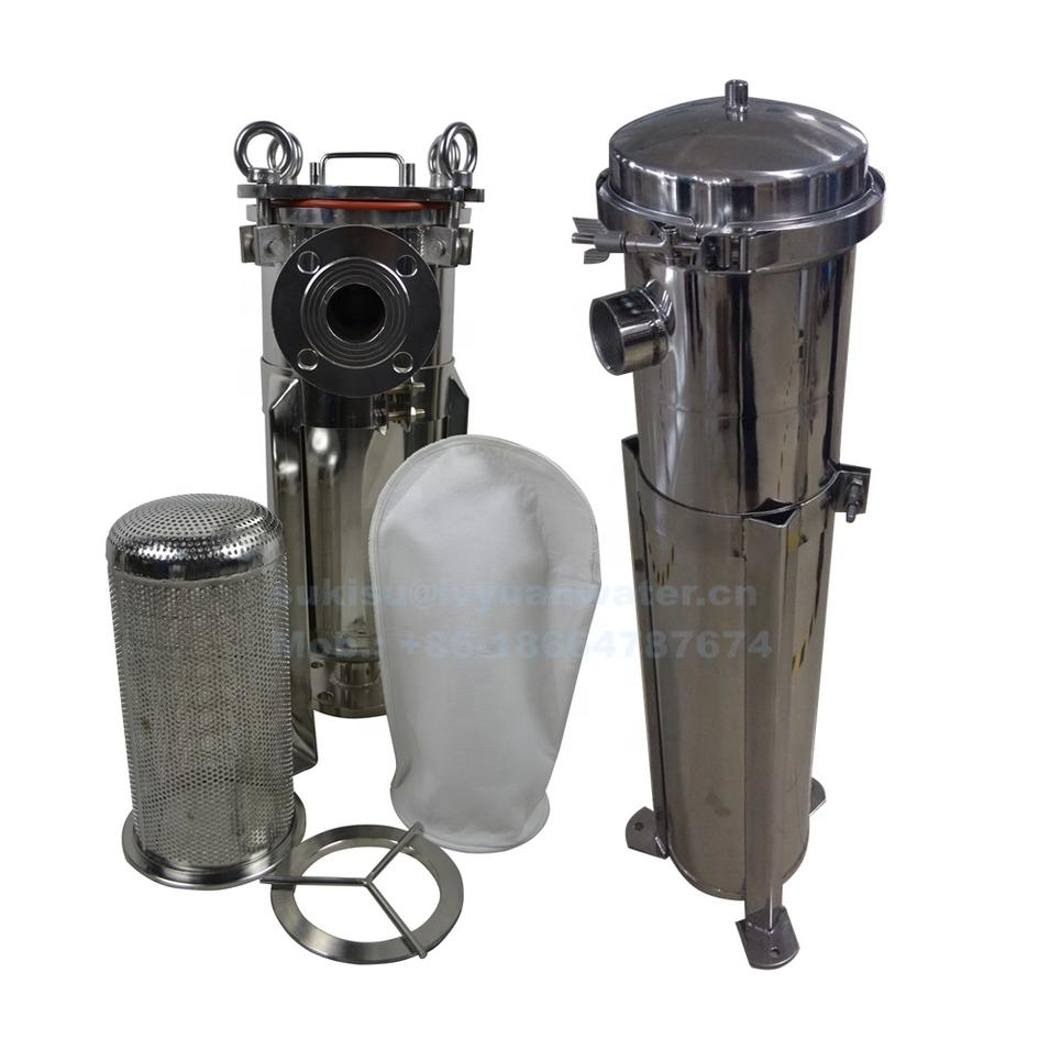 High pressure single stainless steel O ring filter ss bag filter housing with 1 micron oil bag filter PP/PE/Nylon/SS wire mesh