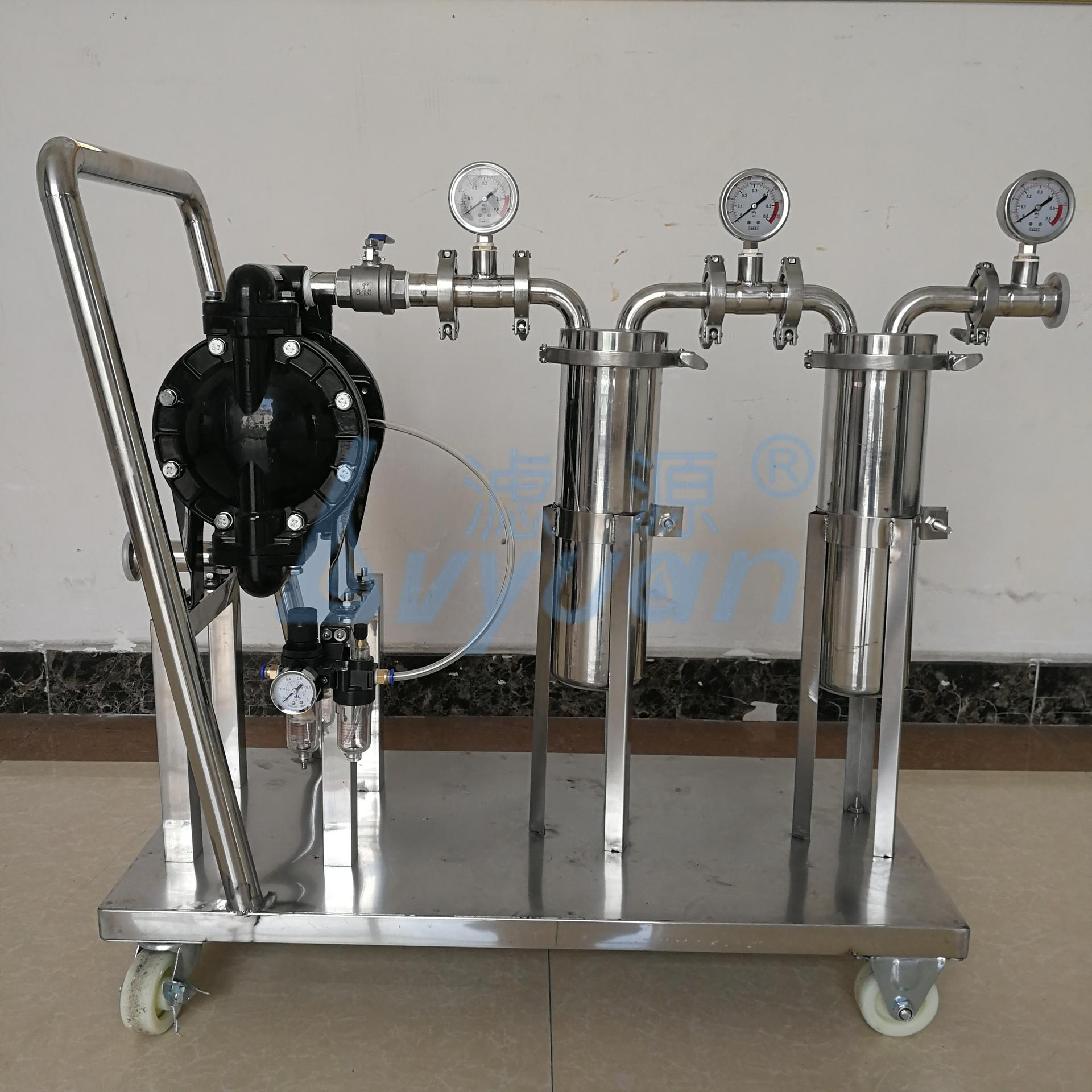 Customized Device Sanitary Stainless Steel Liquid Filter with 1/2/3/4/5 Stages Cartridge/Bag Purification