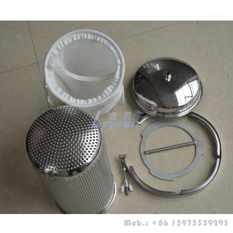 Swing bolts single bag basket type industrial water filter housing with stainless steel 304 316L material