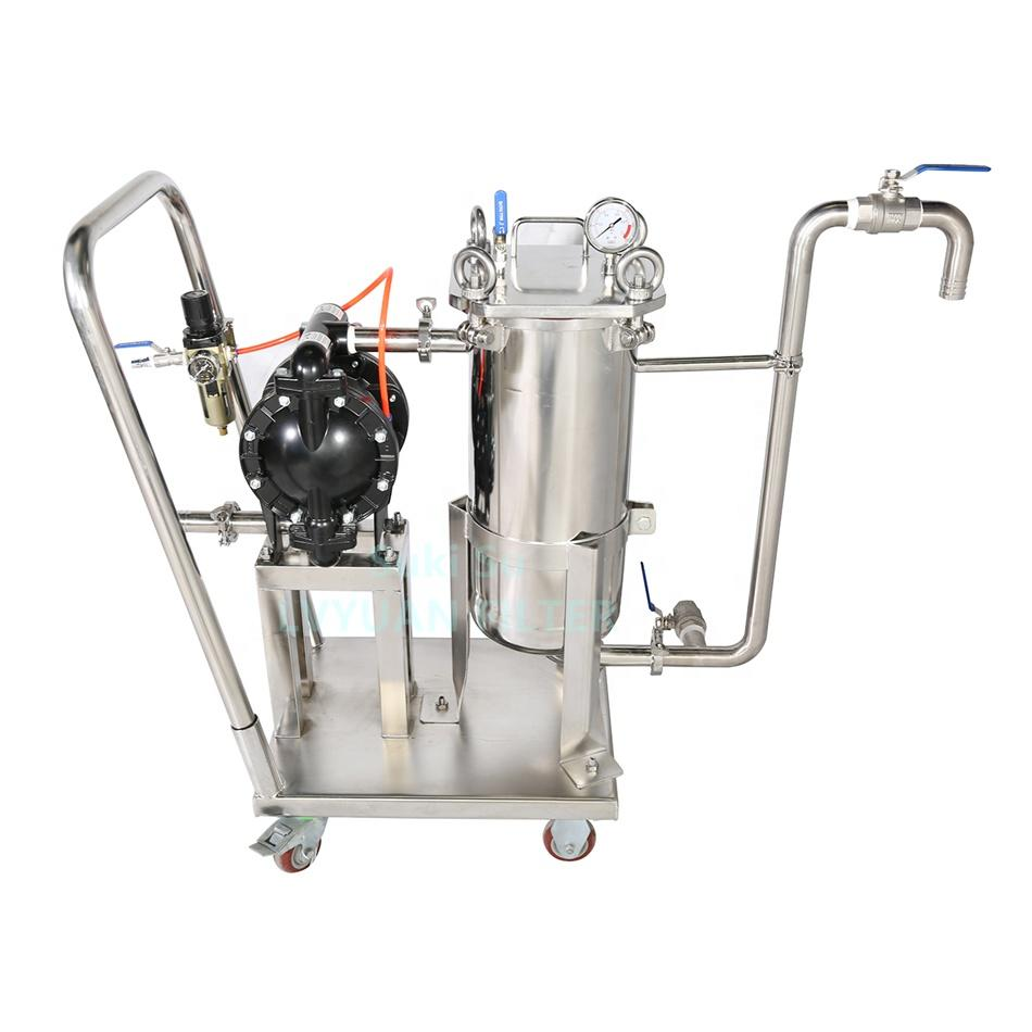 China Factory Custom Dual Triple Stages Stainless Steel beer housing bag filter for wine filtering machine
