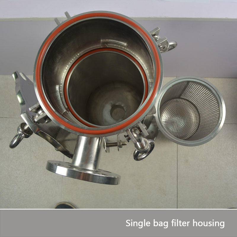 7x18 inch stainless steel wire mesh bag filter 10 microns stainless steel water filter housing bag type for liquid/oil filter