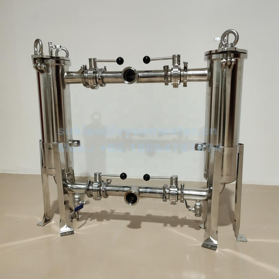 Customize Mesh and bag type SS316 SS 304 filtering tank 50 25 10 5 1 um micron Stainless Steel Milk Filters