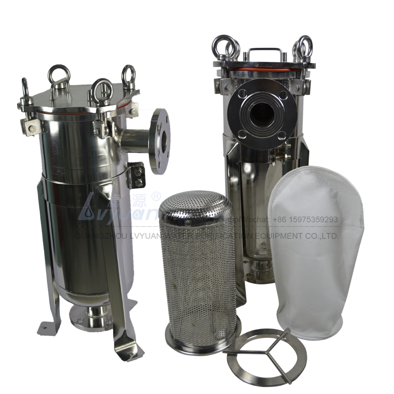 Big SS filter basket stainless steel bottled type 304 316L filtration housing for water/wine/medical/oil filter industry