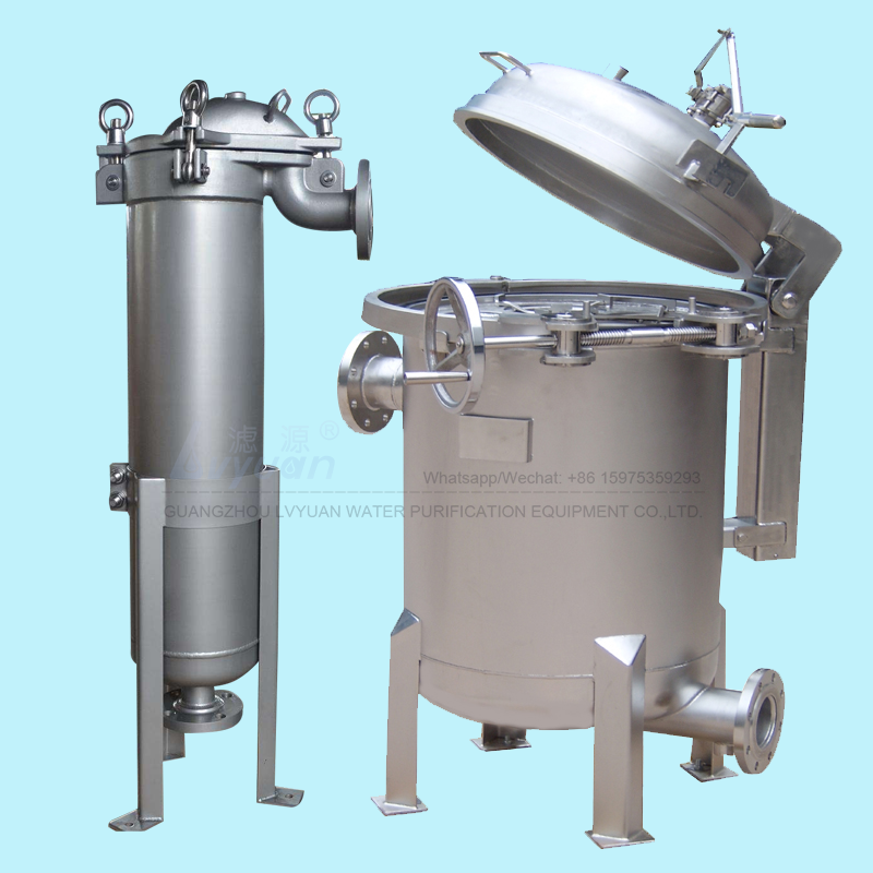Single & multi 3 micron bag housing filter 304 316L material stainless steel filter housing manufacturer in Guangdong China