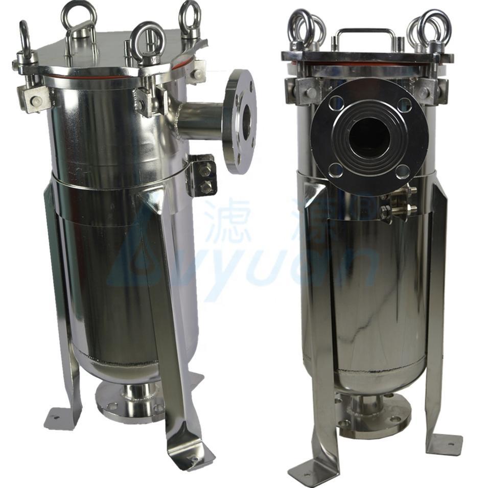liquid milk juice beverage filtration stainless steel bag filter housing ss 304 316L bag filter housing