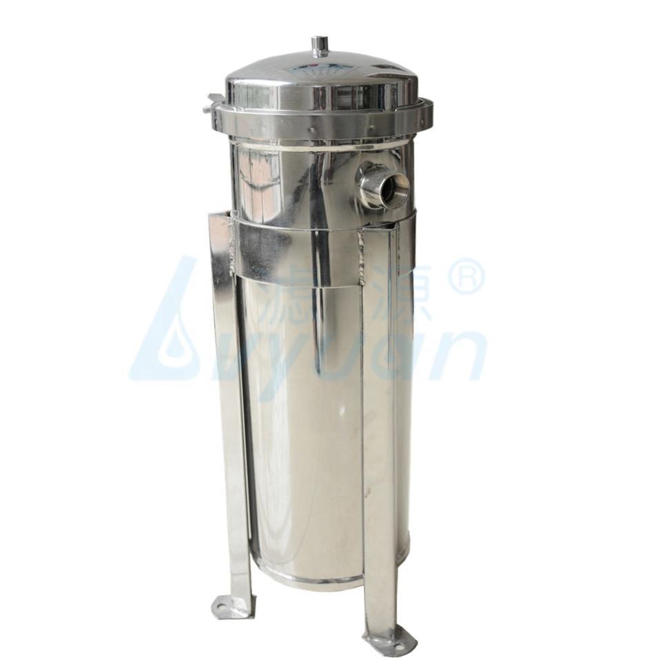 sus304 sus316 Single Bag Filter Housing stainless steel water filter housing 100psi
