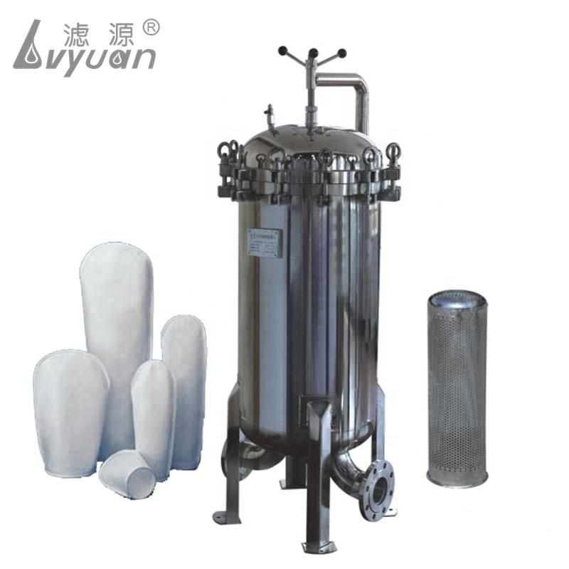 Industrial Large Flow #1/2 Stainless Steel 304 Triple Bag Filter Housing for Oil/Chemicals/high iscosity Liquids treatment