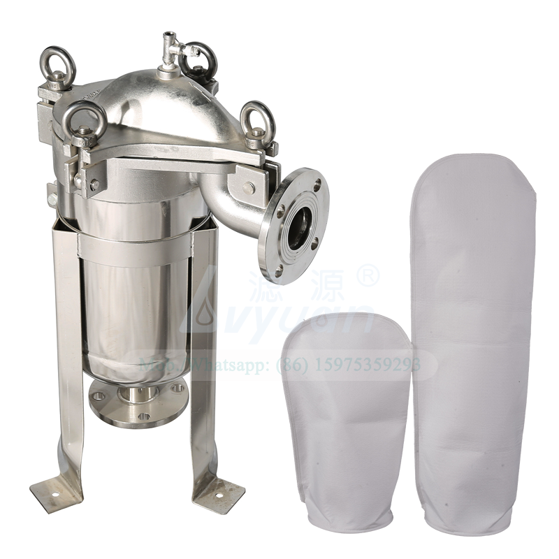 High quality liquid filtration filter stainless steel SS304 316L industrial pp bag filter housing for industrial oily water