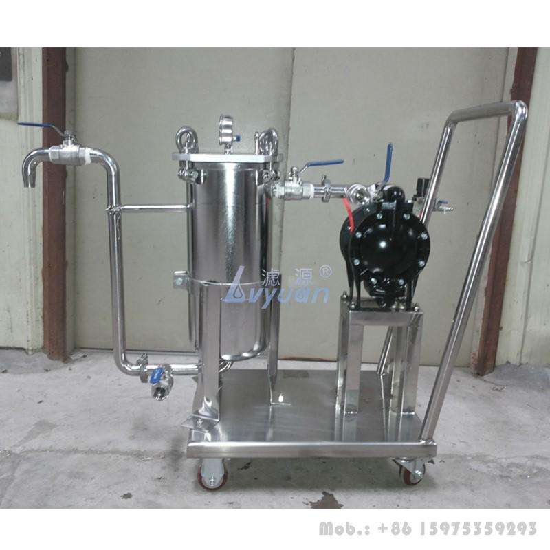 Stainless steel 304 316L filter body #1 #2 single bag industrial water filter housing for water liquid treatment plant