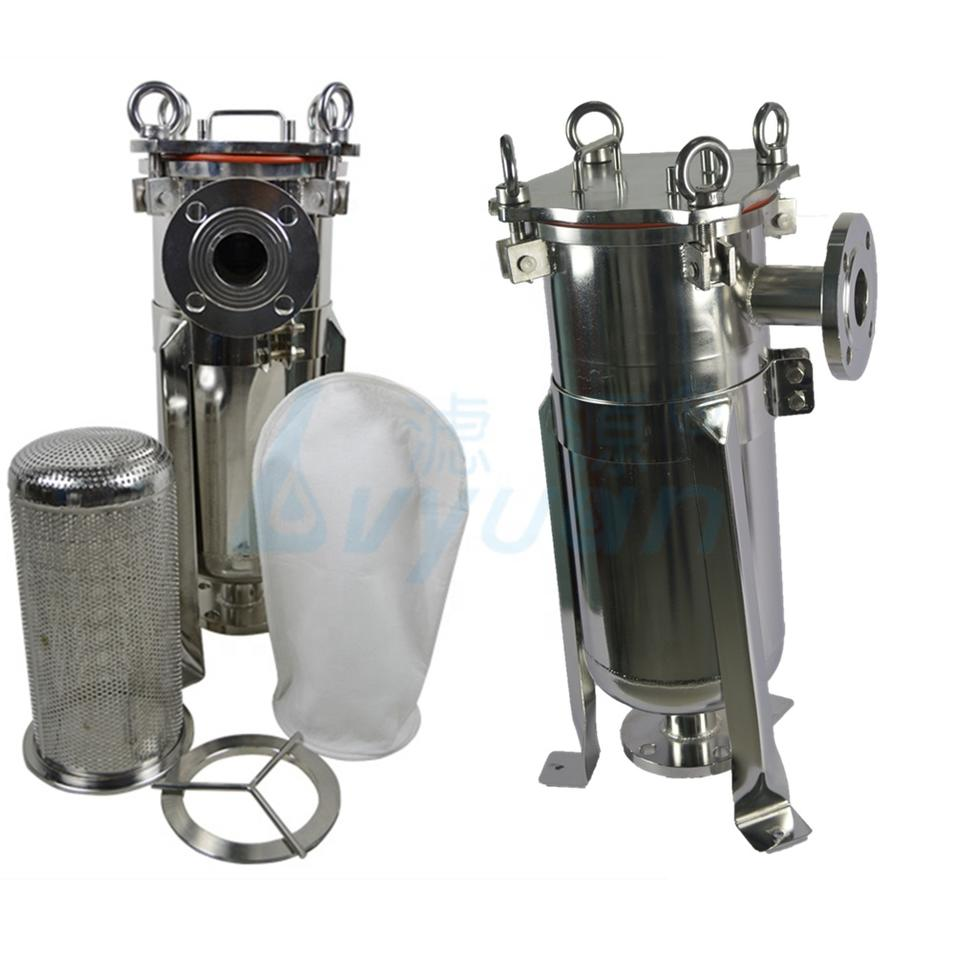 SUS304 316 100psi Single Bag Filter Housing Stainless Steel Water Filter single-bag